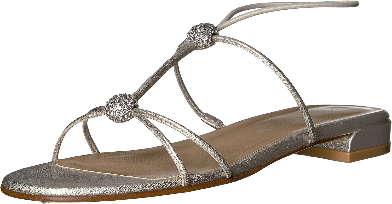 Stuart Weitzman Womens Tweety Flat Sandal