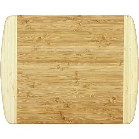"Totally Bamboo Kauai Bamboo Serving & Cutting Board, 14"" x 11.5"", Natural Two Tone"