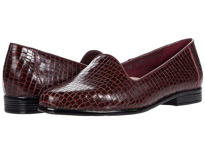 Trotters Liz Croco (Wine Leather) Women's Shoes