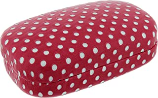 Hard Mod Pink and White Polka Dot with Interior Mirror Contact Lens Travel Case