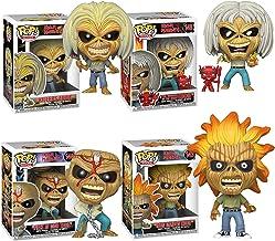POP! Funko Rocks Iron Maiden (Skeleton Eddie) Set of 4 Iron Maiden, Killers, Number of The Beast and Piece of Mind Vinyl F...