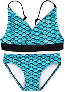 Fin Fun Tankini Set Arctic Blue Youth Large