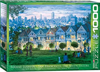 San Francisco The Seven Sisters by Eugene Lushpin 1000-Piece Puzzle
