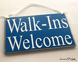 Prim and Proper Decor Walk-Ins Welcome 8x6 (Choose Color) Office Salon Therapy Massage Spa Welcome Consultation Therapy Therapist Custom Wood Sign