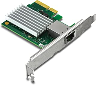 TRENDnet 10 Gigabit PCIe Network Adapter, Supports 802.1Q Vlan, Standard and Low-Profile Brackets, Windows, Server, Linux, Nbase-T, TEG-10GECTX