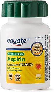 Equate - Aspirin 81 Mg, Adult Low Strength Aspirin Regimen Low Dose 500ct by Equate