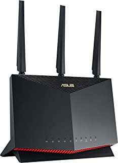 ASUS Dual Band Wi-Fi 6 Gaming Router, Black, RT-AX86U