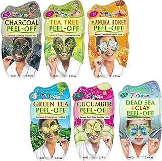 7th Heaven Facial Peel Off Mask Variety Pack, Charcoal, Tea Tree, Manuka Honey, Green Tea, Cucumber & Dead Sea