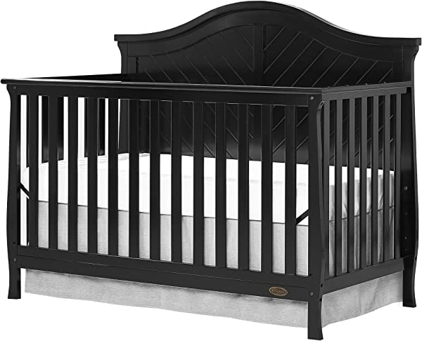Dream On Me Kaylin 5 In 1 Convertible Crib Black
