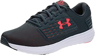Under Armour Surge SE, Men's Running Shoes, Grey (Wire/White/Beta Red), 41 EU