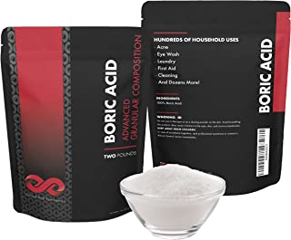 Boric Acid Granules USP Grade - 2 LB Powder for Powerful, Long Lasting Effects. Household and Human Use - Cleaners, Tablets, Capsules, Gel, Spray, Pills