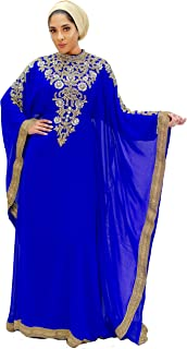 Royal Bliss Kaftan for Women - Long Sleeve Maxi Dress, Formal Gown Evening Dress