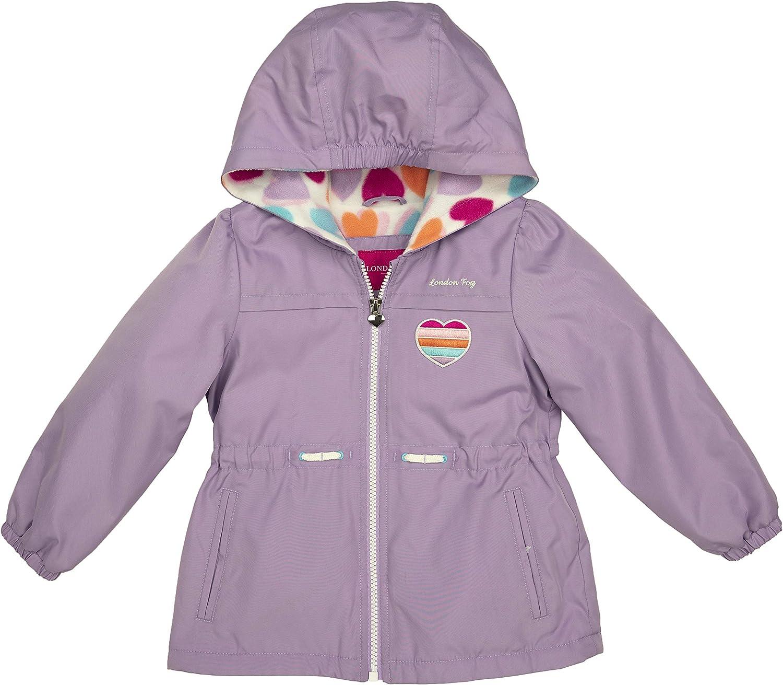 LONDON FOG Girls' Reversible Soft & Sensible Jacket Coat