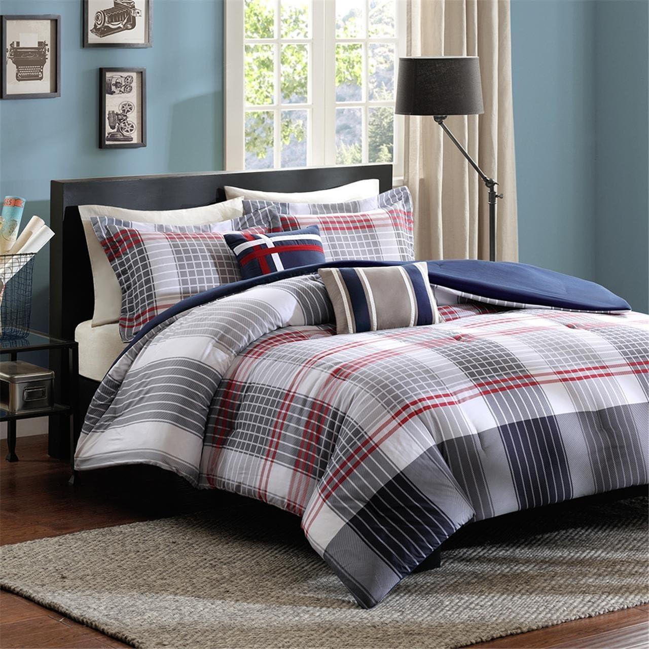 Intelligent Design Caleb 5 Piece NEW before selling trust ☆ Queen Blue Set Comforter Full