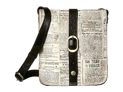 Patricia Nash Venezia Crossbody (Newspaper) Cross Body Handbags
