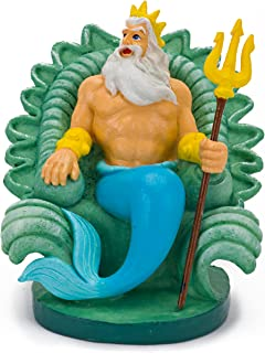 Penn-Plax Disney's Little Mermaid King Triton Aquarium Ornament