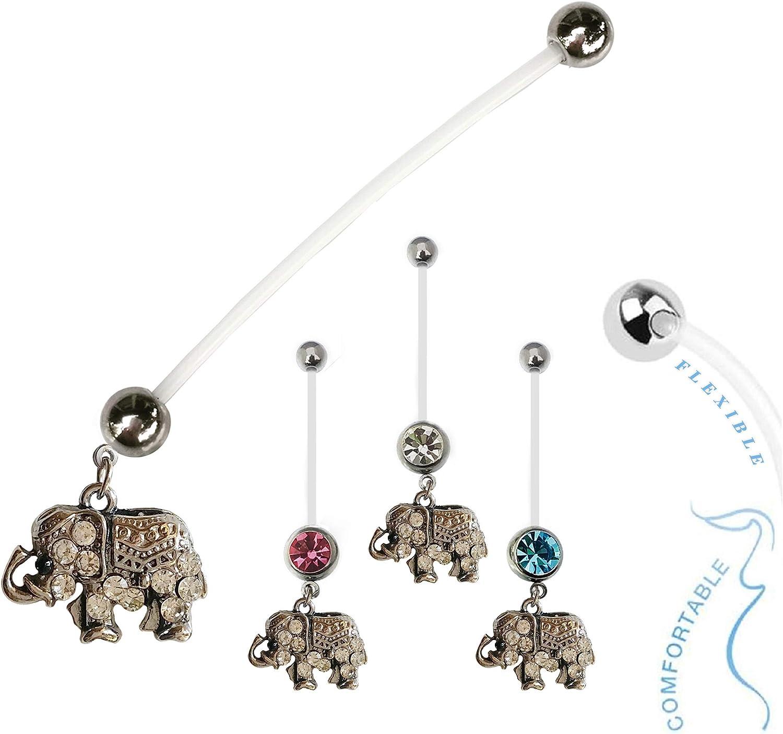 The Jewelry Archivist Baby Classic Elephant BioFlex Cheap mail order shopping Reveal Flexib Gender