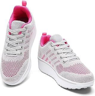 Women's Walking Shoes Breathable Mesh Comfort Lightweight Wedge Platform Sneakers