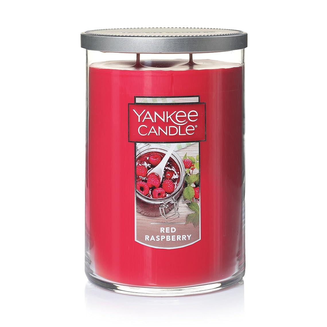 ゆり補助金途方もないYankee Candleレッドラズベリーティーライトキャンドル、フルーツ香り Large 2-Wick Tumbler Candle レッド 1323195