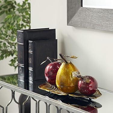 "Deco 79 68134 Metal Fruit Decor, 9""H x 19""W"
