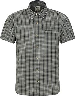 Mountain Warehouse Camicia in Cotone da Uomo Holiday - Camicia Estiva Facile da Pulire, Camicia Casual Leggera, Maglietta ...