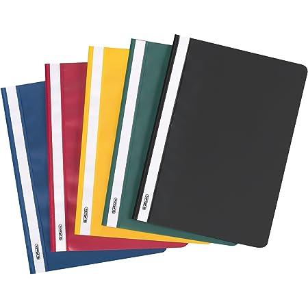 Herlitz 11387206Lot de 10 Chemises à lamelle en polypropylène Classeur format A4 Couleurs Assorties