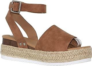 Shoes Womens Stylish Forever Espadrilles Ankle Adjustable Platform Sandals