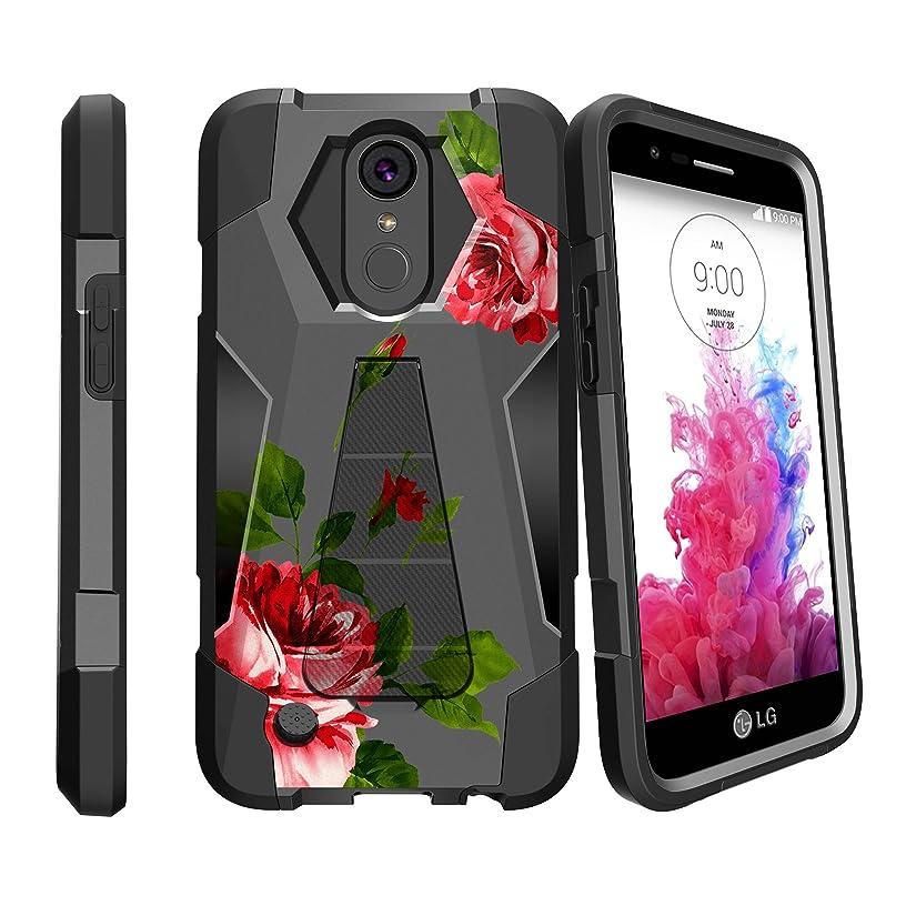 MINITURTLE Case Compatible w/ LG K20 V Stand Case| LG K10 (2017)| LG K20 Plus Slim Case| LG Grace Case [SHOCK FUSION] Hybrid Shock Resistant Dual Layer w/ Stand Cover Affectionate Roses