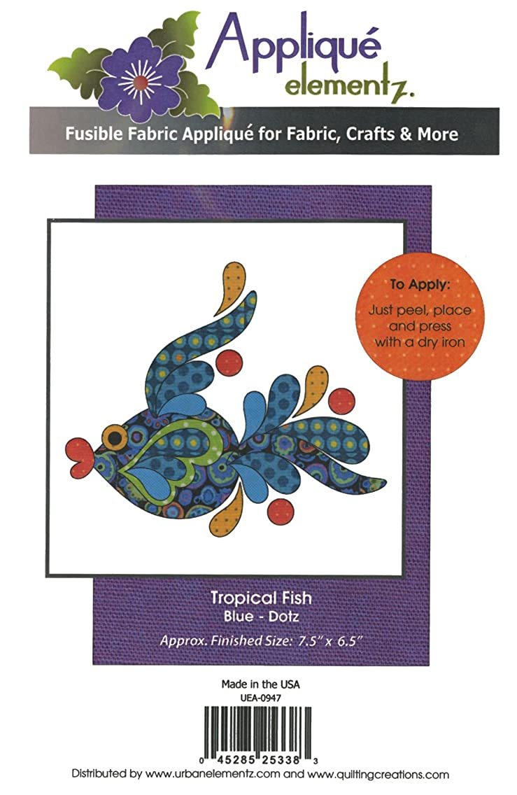Quilting Creations Tropical Fish Blue Fusible Applique