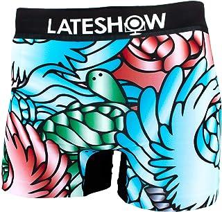 LATESHOW (レイトショー) LATESHOW 鶴亀 メンズ ローライズ ボクサーパンツ 吸水速乾 特許製法の消臭効果 パンツ ブリーフ ブランド 男性 下着 ボクサー M L XL LL