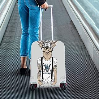 Suitcase Protectors Dust Proof Luggage Covers Fit 18-28 Inch Luggage portrait of panther girl princess