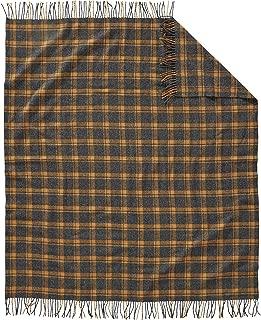 Pendleton Washable Fringe Throw Blanket (Charcoal/Copper)