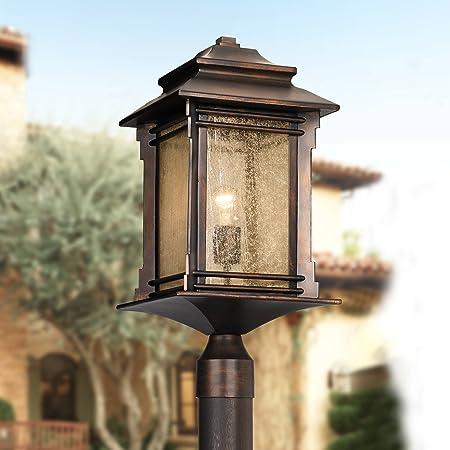 Quoizel Snn9009pn Stonington Outdoor Post Lantern 1 Light 100 Watt Palladian Bronze 17 H X 10 W Amazon Com
