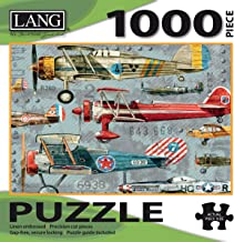 """LANG - 1000 Piece Puzzle -""""Planes"""", Artwork by Artly - Linen Finish - 29"""" x 20"""" Completed"""