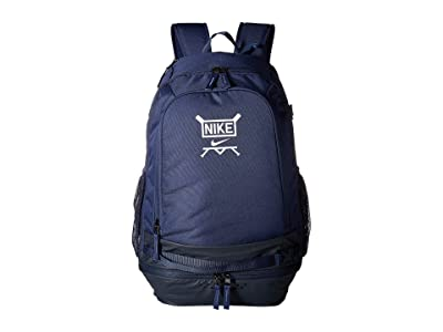 Nike Vapor Select Baseball Backpack (Midnight Navy/Obsidian/White) Backpack Bags