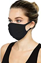 SAMBUYA - Layer Reusable Breathable Cloth Face Masks - 100% USA Cotton Comfortable Washable Unisex Masks for Women Men (Bl...