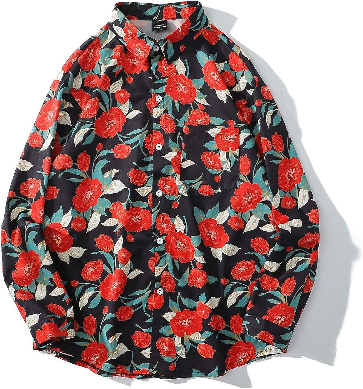 Men's Regular-fit Cardigan Stretch Autumn and Winter Cotton Linen Shirt Long
