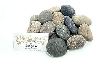 LF Inc. 50 Lb. Premium Small Mixed Mexican Beach Pebbles 1-2 inches, Decor, Garden, Landscape