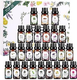 Huiles Essentielles Aromathérapie 26 x 5ML, Ensemble de Top26 Huiles Essentielles 100% Pures et Naturelle, Huile Essentiel...
