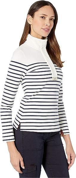 Cream Navy Stripe
