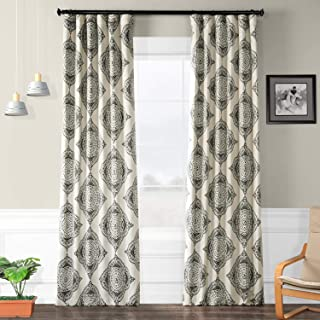 HPD HALF PRICE DRAPES BOCH-KC27B-108 Henna Blackout Room Darkening Curtain 50 X 108,Henna Black