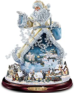 The Bradford Exchange Thomas Kinkade Moving Santa Claus Tabletop Figurine: and to All A Good Night