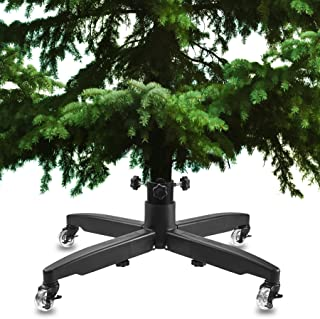 HOLDN' STORAGE Rolling Christmas Tree Stand - Universal Xmas Tree Stand with Heavy Duty Casters and Adjustable Base to fit 7 FT – 12 Foot Artificial Trees