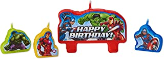 American Greetings Avengers 4 Birthday, Candles, 4-Count