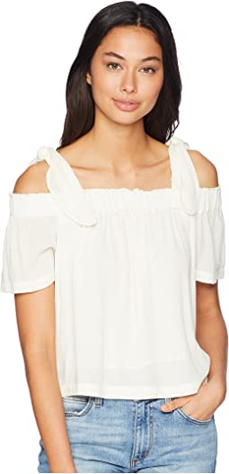 Off Shoulder Blouse with Tie Strap