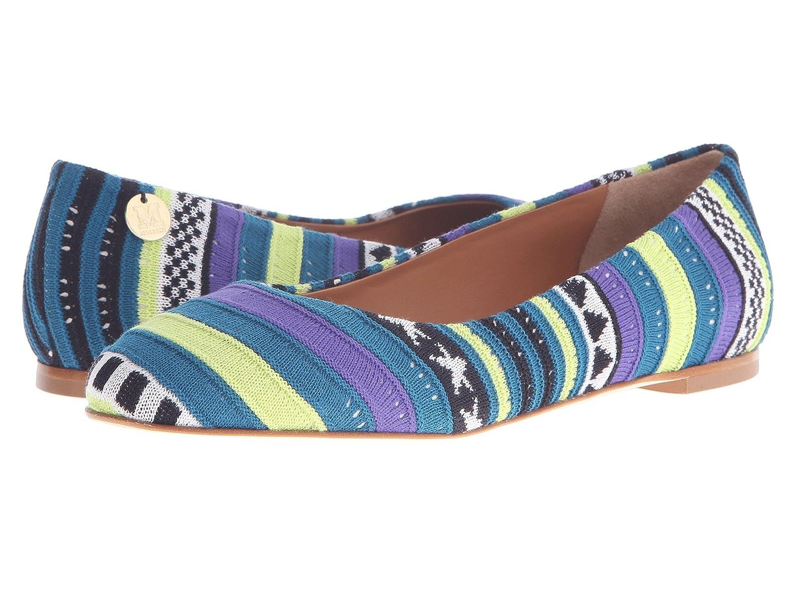 M Missoni Star Stripe Pink Ballet ShoesCheap and distinctive eye-catching shoes