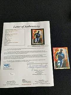 1997 Topps Gallery Auto Autograph Signature Peter Max Art Ken Griffey Jr Loa - JSA Certified - Baseball Slabbed Autographed Cards