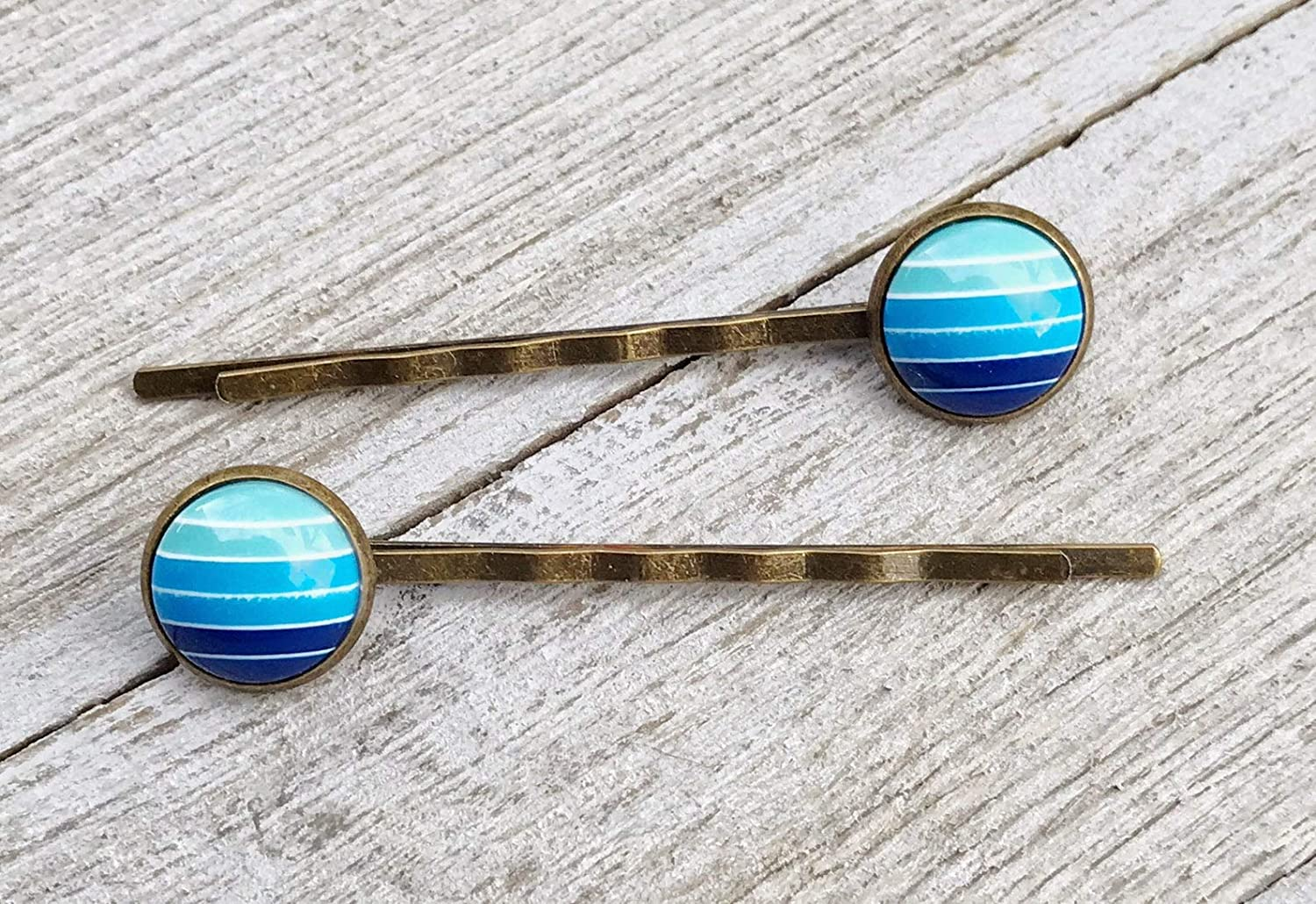 Sky Blue Gradient Hair Pin Clip Women Cheap mail order sales Store for Womens