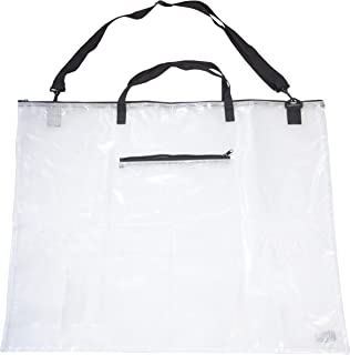 Multipurpose Zippered Storage Bag for Poster Board, Posters, Art, Bulletin Board, Charts, Tri-Fold Science Project, and Documents with Outer Pocket and Shoulder Strap (24x31)