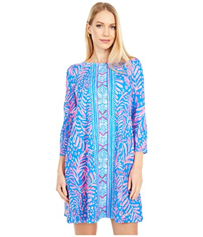 Lilly Pulitzer Ophelia Dress (Pundy Blue La Zebra Engineered) Women